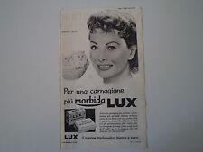 advertising Pubblicità 1956 SAPONE LUX e JEANNE CRAIN