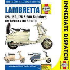 5573 Lambretta 125 150 175 200 Scooters 1958-2000 Haynes Workshop Manual