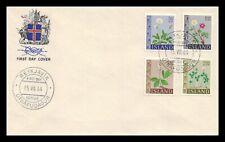 Iceland 1964 FDC, Flowers III. Lot # 16.