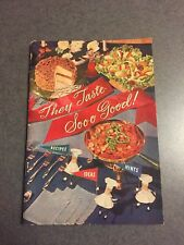 1955 They Taste Sooo Good Planters Peanut Oil Company Recipe Vintage Cookbook