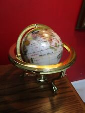 Alexander Kalifano COMPASS Gemstone Globe with Opalite Ocean/3-Leg Table STAND