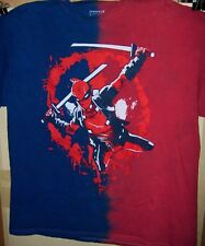 DEADPOOL Red White and Blue Swords T-Shirt Pre Worn Size X-LARGE Very COOL