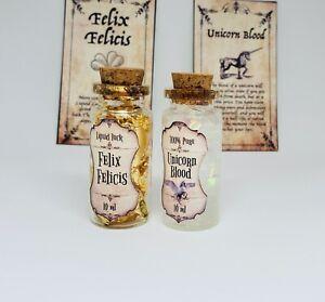 Harry Potter Potion Trinket Magic Bottles Miniature Unicorn blood Felix Felicis