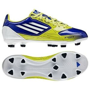ADIDAS F10 TRX FG Royal Blue Lab Lime White Soccer Cleats Boots NEW Womens 5.5