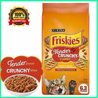 Purina Friskies Tender & Crunchy Combo  Dry Cat Cats Food Bag 6.3 lb. Bag