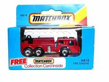 Matchbox MB18 Fire Engine (RED, WHITE LADDER, UNOPENED BOX)
