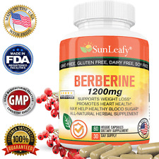 Berberine HCI 1200mg Metabolism Boost Healthy Cholesterol and Blood Sugar Level