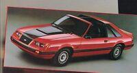 1983 Ford MUSTANG Dealer Brochure / Catalog / Pamphlet; L,GL,GLX,GT,Convertible