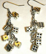 #6937 Lucky Chain of Dice Charms are Perfect to wear for a Night at the Casino