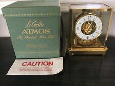 Atmos LeCoultre Clock Model 528-8 Runs Well Nice Cond. - Starting Bid $1.00 - NR