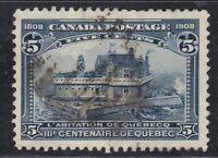 "Canada Scott #99 5 cent Champlain's Habitation ""Quebec Tercentenary""  F"