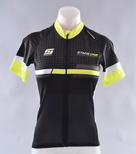StageOne Classic SS Cycling Jersey Women's XL Black Yellow Bike Bicycle