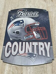 New England Patriots Country Wood Sign NFL Wincraft New Tom Brady Football