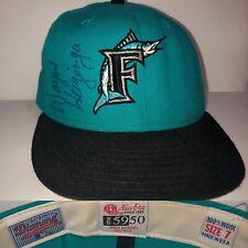 26b812508d26d VTG 90 s Florida Marlins WAYNE HUIZENGA Autographed NEW ERA Wool Baseball  Hat