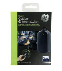 GE Plug-In Outdoor EZ Smart Switch Wireless Z-Wave Range 120 VAC, 60 Hz