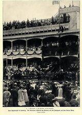 Hamburger Besuch des Kaiserpaares Horner Moor Pferderennen um Hansapreis 1904