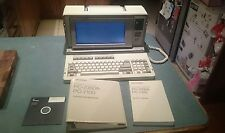 SHARP PC7000 VINTAGE PORTABLE COMPUTER WITH MANUALS & BAG