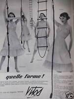 PUBLICITÉ 1957 CE SONT LES LINGERIES NYLON VITOS - ADVERTISING