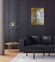 18x24 Abstract Painting Direct From Artists Black White And Gold Original Art