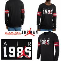 SZ LARGE🆕 Nike Men's Air Jordan FA Brand 6 Long Sleeve T-Shirt Black AH6326-010