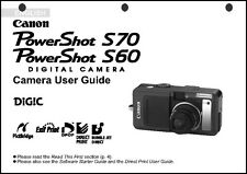 Canon Powershot S60 and S70 Digital Camera User Guide Instruction  Manual