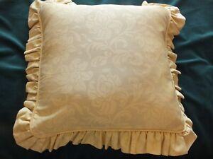 Vintage Laura Ashley Frilled Cushion - Aragon Cowslip