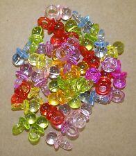 Lot de 40 breloques pendentifs tétine,totoche en plastique translucide -bc240