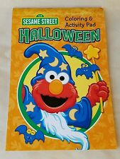 Sesame Street Halloween Coloring & Activity Pad - Elmo Cookie Monster Oscar Etc