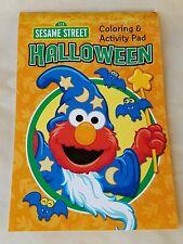 Sesame Street Halloween Coloring & Activity Pad - Elmo Cookie Monster Oscar Etc