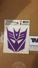 Transformers Palisade Toys Official Decepticon Window Cling Reusable Decal NEW