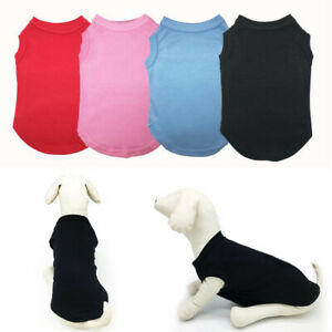 Pet Dog Cotton T-Shirt Puppy Top Vest Coat Clothes Apparel Cotton Costume Outfit