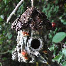 Vintage Mushroom Tree Bird House Nest Garden Ornament Decoration NEW 39255