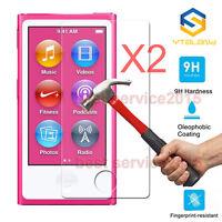 2Pcs 9H Premium Tempered Glass Screen Protector Film For Apple iPod Nano 7 7th