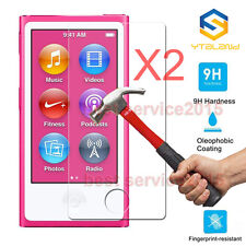 2Pcs 9H Premium Tempered Glass Screen Protector Film For Apple iPod Nano 7 7th