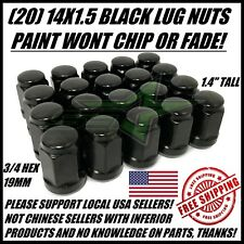 20 BLACK LUG NUTS 14X1.5 | DODGE CHALLENGER CHARGER | CHEVY CAMARO 08+ WHEEL NUT