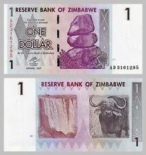 Simbabwe / Zimbabwe 1 Dollar 2007 p65 unz.