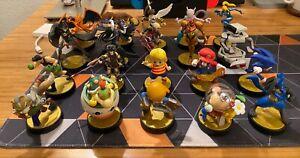 Amiibo Lot Of 57 Figures: Nintendo Zelda Pokémon Metroid Smash Bros Mario Kirby