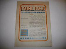 """Vieille Revue 1969 - Faire Face """"les 7 péchés capitaux"""""""