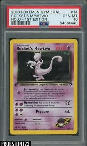 2000 Pokemon Gym Challenge 1st Edition #14 Rocket's Mewtwo - Holo PSA 10