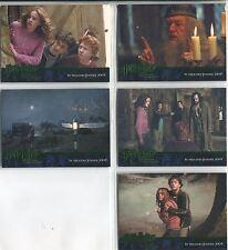 Harry Potter Prisoner Of Azkaban Complete Green Stamped Promo Card Set 1-5