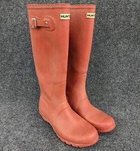 Hunter Original Tall Brick Red Rubber Rain Boots Size 9 Men's 10 Women's