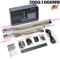 TTL Linear Scale Encoder + 2Axis Digital Readout DRO Display 300&1000mm Kit US