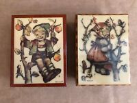 Hummel Vintage Reuge Lidded Music Box holder Little Boy Girl in apple tree lot