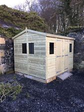 GARDEN SHED TANALISED ULTIMATE HEAVY DUTY 10X8 APEX 22MM T&G.  3X2.