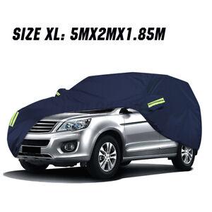 210T SUV Full Car Cover Waterproof Outdoor Scratch Sun Rain Dust Resistant XL US