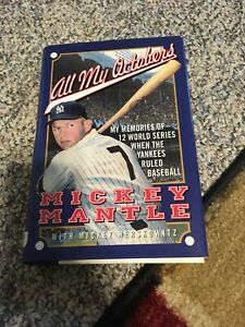 All My Octobers - Mickey Mantle ,1st Edition - 1994 - DJ, Hard Copy, Very good
