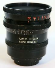 VERY RARE C MOVIE LENS TAYLOR HOBSON COOKE KINETAL 25MM T2 F1.8 25//1.8 LENS