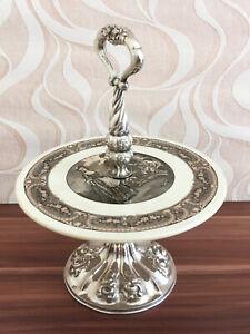 Antike Etagere Biedermeier Zeit 13 Lot 813er Silber Um 1850 Österreich Wien