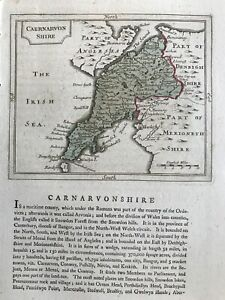 1787 Antique Map; Caernarfonshire / Carnarvonshire after Grose / John Seller