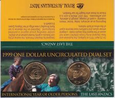 1999 $1 Older Person & ANZAC Dual Set